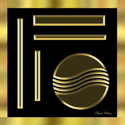 Digital Art - Black And Gold 1 by Chuck Staley