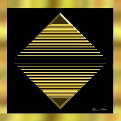 Digital Art - Black And Gold 12 by Chuck Staley