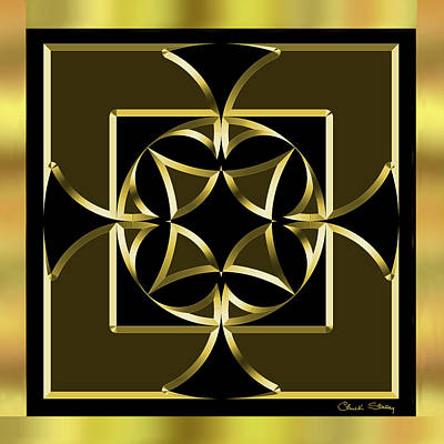 Digital Art - Black And Gold 13 - Chuck Staley by Chuck Staley