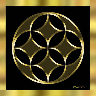 Digital Art - Black And Gold 2 - Chuck Staley by Chuck Staley