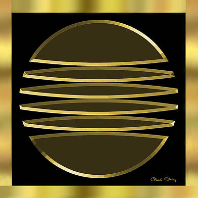 Digital Art - Black And Gold 4 - Chuck Staley by Chuck Staley