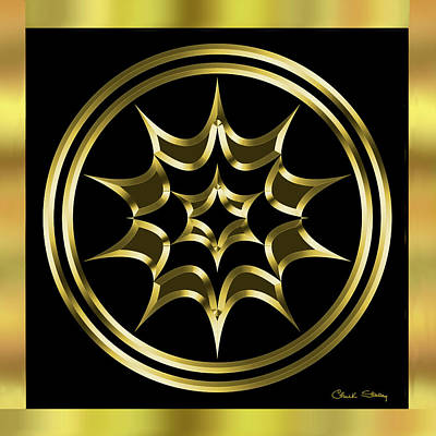 Digital Art - Black And Gold 6 by Chuck Staley