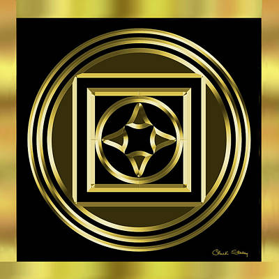 Digital Art - Black And Gold 8 by Chuck Staley