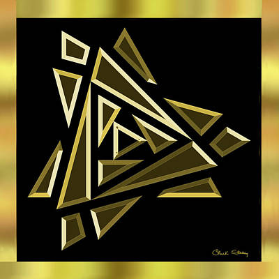 Digital Art - Black And Gold 9 by Chuck Staley
