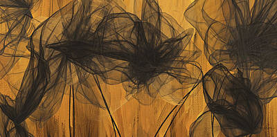 Painting - Black And Gold Abstract Art by Lourry Legarde