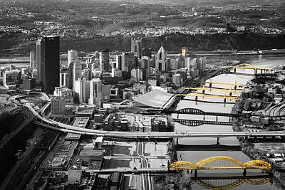 Black And Gold Pittsburgh  Art Print by Emmanuel Panagiotakis