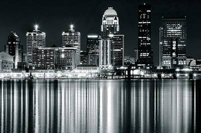 Photograph - Black And Night Louisville by Frozen in Time Fine Art Photography