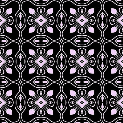 Digital Art - Black And Pink Modern Decor Design by Georgiana Romanovna