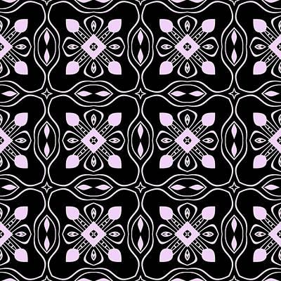 Digital Art - Black And Pink Modern Decor Design by Georgiana Romanovna
