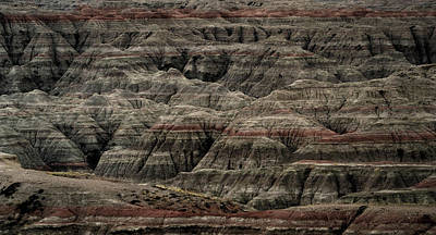 Photograph - Black And Red Strata The Badlands South Dakota by Nadalyn Larsen