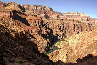 Black And Silver Bridges Spanning The Colorado River  Grand Canyon National Park Art Print