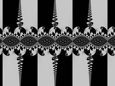 Digital Art - Black And Silver by Nancy Pauling