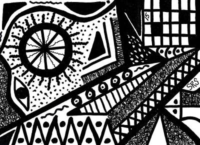 Drawing - Black And White 15 by Susan Schanerman