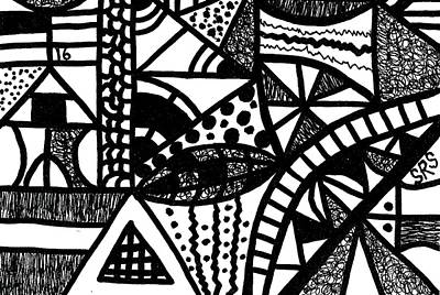 Drawing - Black And White 16 by Susan Schanerman