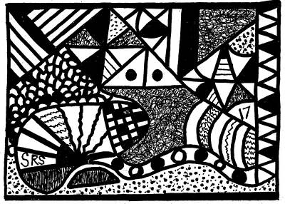 Drawing - Black And White 17 by Susan Schanerman