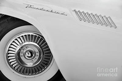 Photograph - Black And White '57 T-bird by Dennis Hedberg