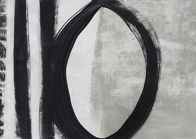 Painting - Black And White Abstract 1- Art By Linda Woods by Linda Woods