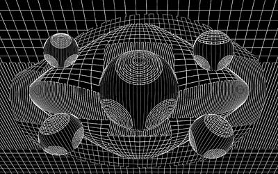 Op Art Photograph - Black And White Abstract by Eleanor Bortnick