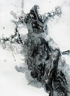 Painting - Black And White Abstract Painting  by Julia Fine Art