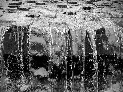 Black And White Abstract Waterfall Art Print