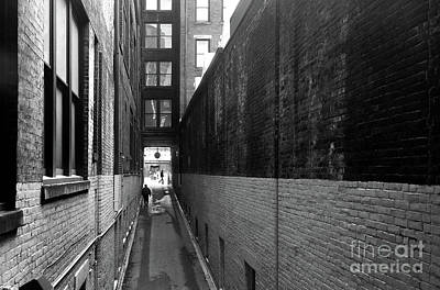 Photograph - Black And White Alley by Peter Tompkins