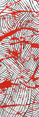 Painting - Black And White And Red All Over 1 by Diane Thornton