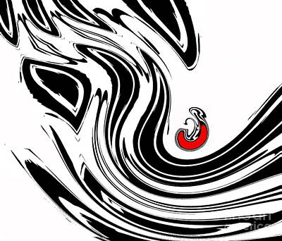 Black And White And Red No.54. Art Print