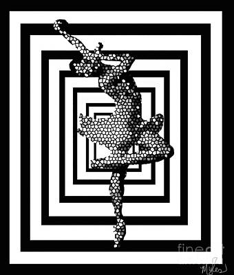 Painting - Black And White Ballerina Fabulous by Saundra Myles