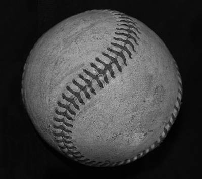 Photograph - Black And White Baseball by Rob Hans
