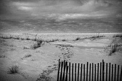 Photograph - Black And White Beach by Dan Sproul