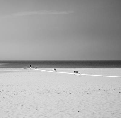 Photograph - Black And White Beach Path by Dan Sproul