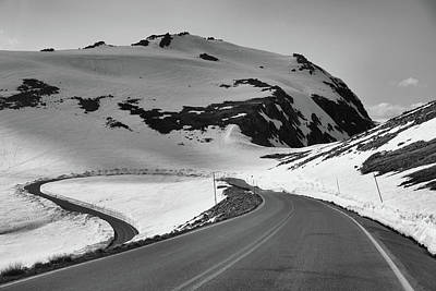 Beartooth Mountain Range Photograph - Black And White Beartooth Highway by Dan Sproul