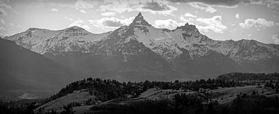 Photograph - Black And White Beartooth Mountains by Dan Sproul