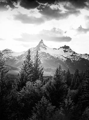 Photograph - Black And White Beartooth Peak by Dan Sproul