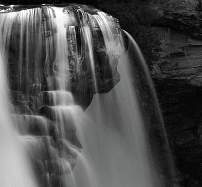 Black And White Blackwater Falls Details Art Print by Dan Sproul