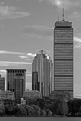 Photograph - Black And White Boston Prudential Center by Juergen Roth