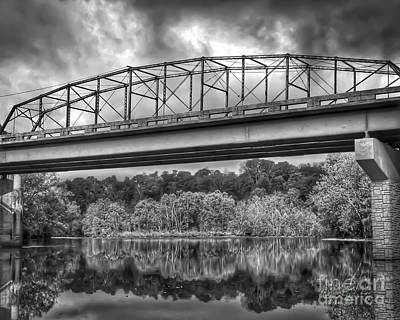 Photograph - Black And White - Bridges And Trees by Kerri Farley