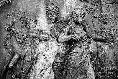 Photograph - Black And White, Bronze Relief In Dubrovnik, Croatia by Global Light Photography - Nicole Leffer