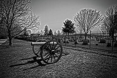 Photograph - Black And White Cannon by Daniel Houghton