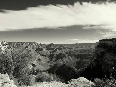 Photograph - Black And White Canyon by Laurel Powell