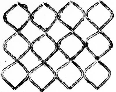 Black And White Chain Link Fence Art Print