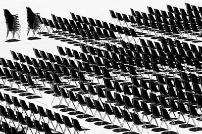 Photograph - Black And White Chairs by Mirko Chessari