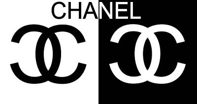 Vintage College Subway Signs Color - Black And White Chanel by Dan Sproul