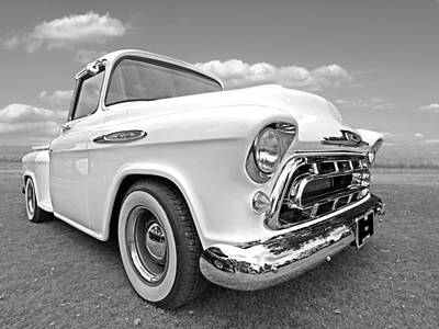 Photograph - Black And White Chevy by Gill Billington