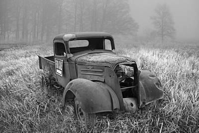 Black And White Chevy Pickup For Sale Art Print by Randall Nyhof