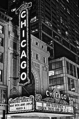 Photograph - Black And White Chicago Landmark by Frozen in Time Fine Art Photography