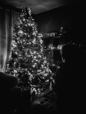 Photograph - Black And White Christmas by Victor Wiebe