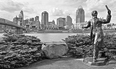 Photograph - Black And White Cincinnati by Frozen in Time Fine Art Photography