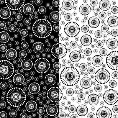 Digital Art - Black And White Circle by Ludek Sagi Lukac