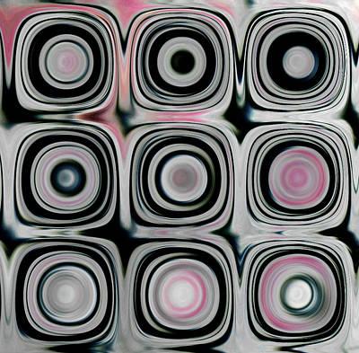 Black And White Circles H Art Print by Patty Vicknair